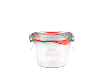 Vaso Weck Mini Mould Jar 80ml - set 12 pz (con coperchio, guarnizione e 2 clips cad.)