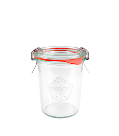 Vaso Weck Mini Mould Jar 160ml - set 12 pz (con coperchio, guarnizione e 2 clips cad.)